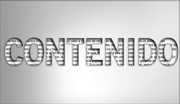 filtro de contenido: